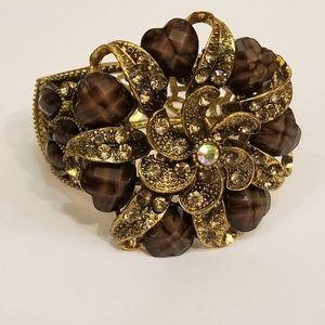 Wide Hinge Bangle Bracelet